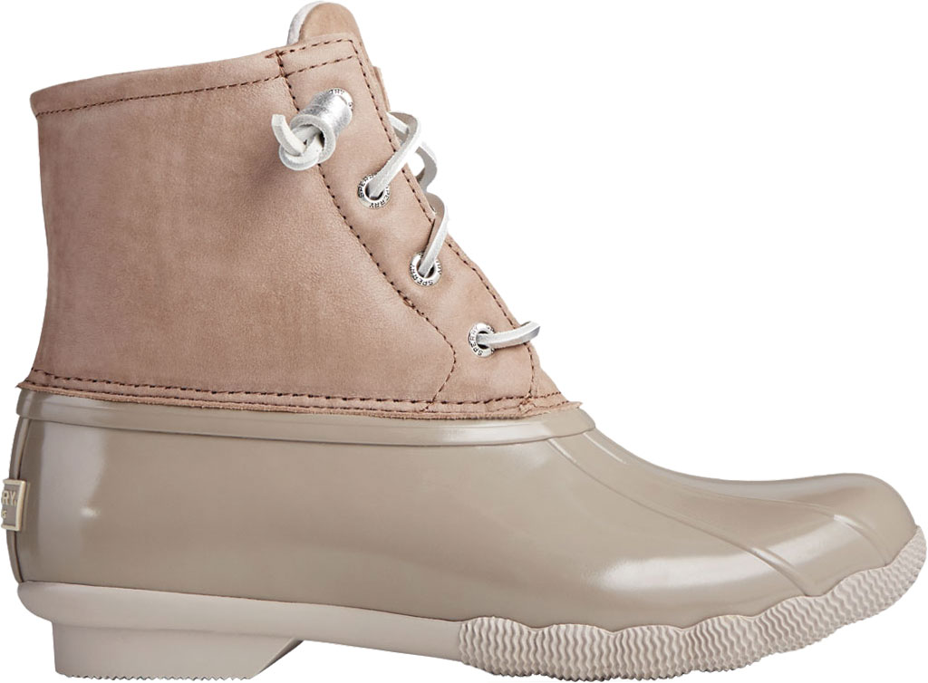 Women's Sperry Top-Sider Saltwater Starlight Leather Duck Boot, Dove Leather/Rubber, large, image 2