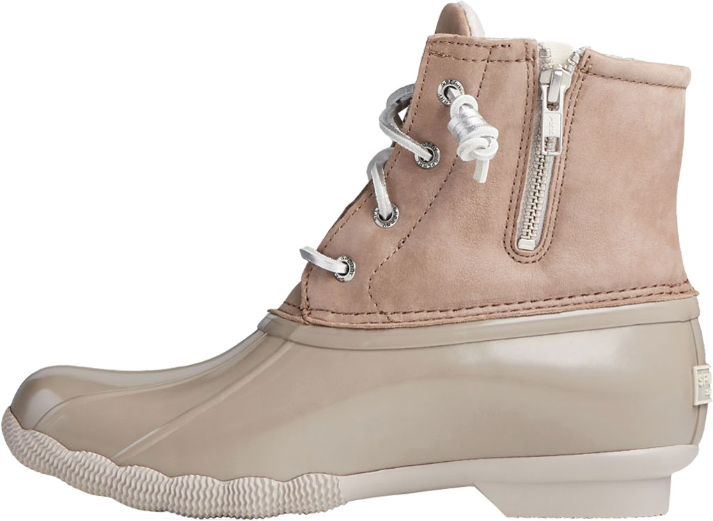 Women's Sperry Top-Sider Saltwater Starlight Leather Duck Boot, Dove Leather/Rubber, large, image 3