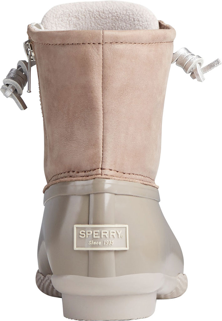 Women's Sperry Top-Sider Saltwater Starlight Leather Duck Boot, Dove Leather/Rubber, large, image 4