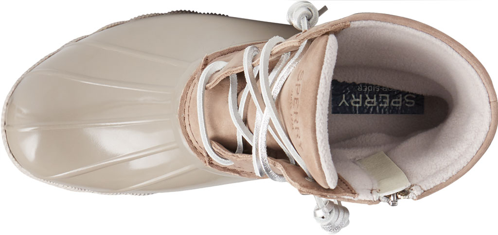 Women's Sperry Top-Sider Saltwater Starlight Leather Duck Boot, Dove Leather/Rubber, large, image 5