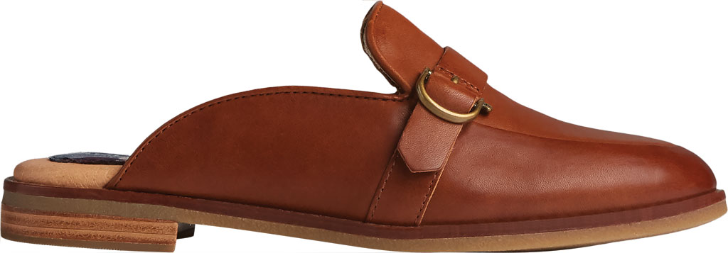 Women's Sperry Top-Sider Seaport Levy Shackle Buckle Leather Mule, Tan Leather, large, image 2