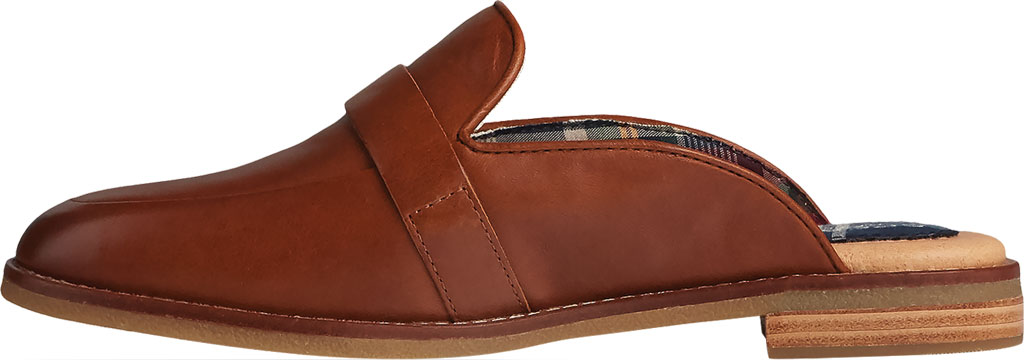 Women's Sperry Top-Sider Seaport Levy Shackle Buckle Leather Mule, Tan Leather, large, image 3
