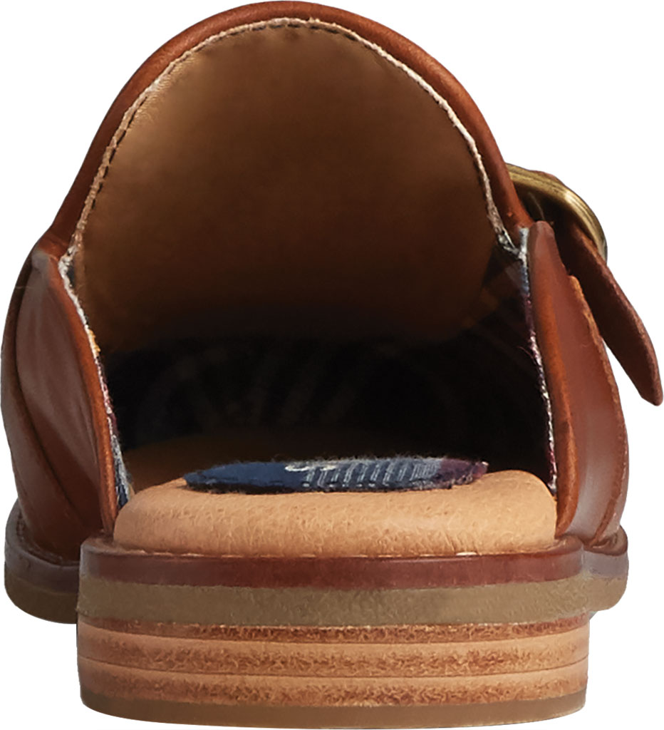 Women's Sperry Top-Sider Seaport Levy Shackle Buckle Leather Mule, Tan Leather, large, image 4