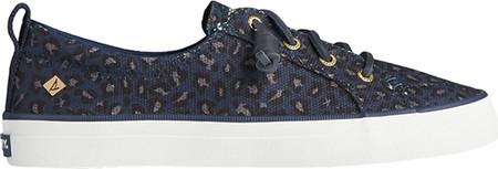 Women's Sperry Top-Sider Crest Vibe Animal Print Textile Sneaker, Blue/Black Textile, large, image 2