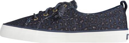 Women's Sperry Top-Sider Crest Vibe Animal Print Textile Sneaker, Blue/Black Textile, large, image 3