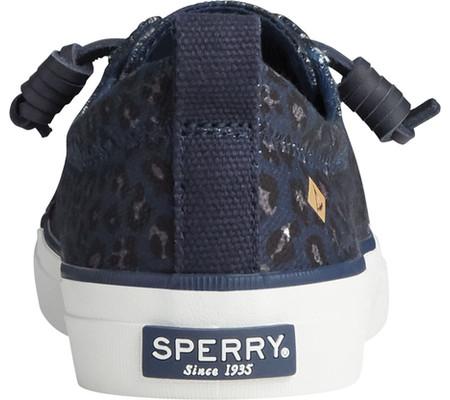 Women's Sperry Top-Sider Crest Vibe Animal Print Textile Sneaker, Blue/Black Textile, large, image 4