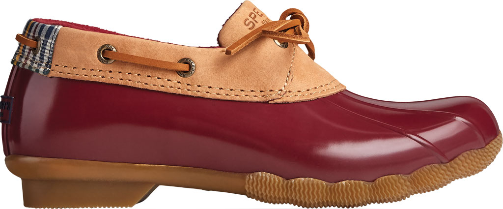 Women's Sperry Top-Sider Saltwater 1-Eye Leather Duck Boot, Tan Leather/Rubber, large, image 2