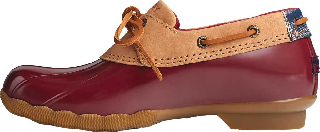 Women's Sperry Top-Sider Saltwater 1-Eye Leather Duck Boot, Tan Leather/Rubber, large, image 3