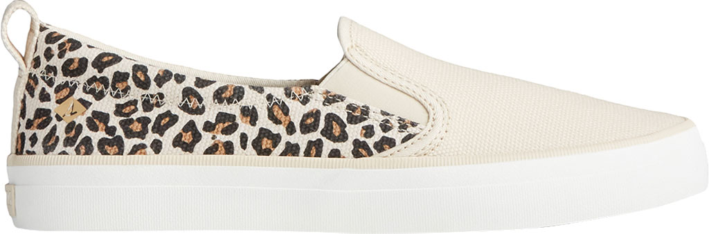 Women's Sperry Top-Sider Crest Twin Gore Animal Print Slip On Sneaker, Tan/Black Textile, large, image 2