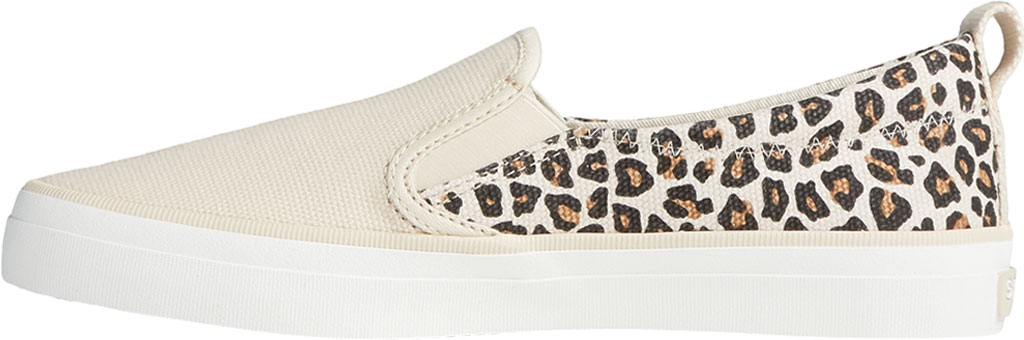 Women's Sperry Top-Sider Crest Twin Gore Animal Print Slip On Sneaker, Tan/Black Textile, large, image 3