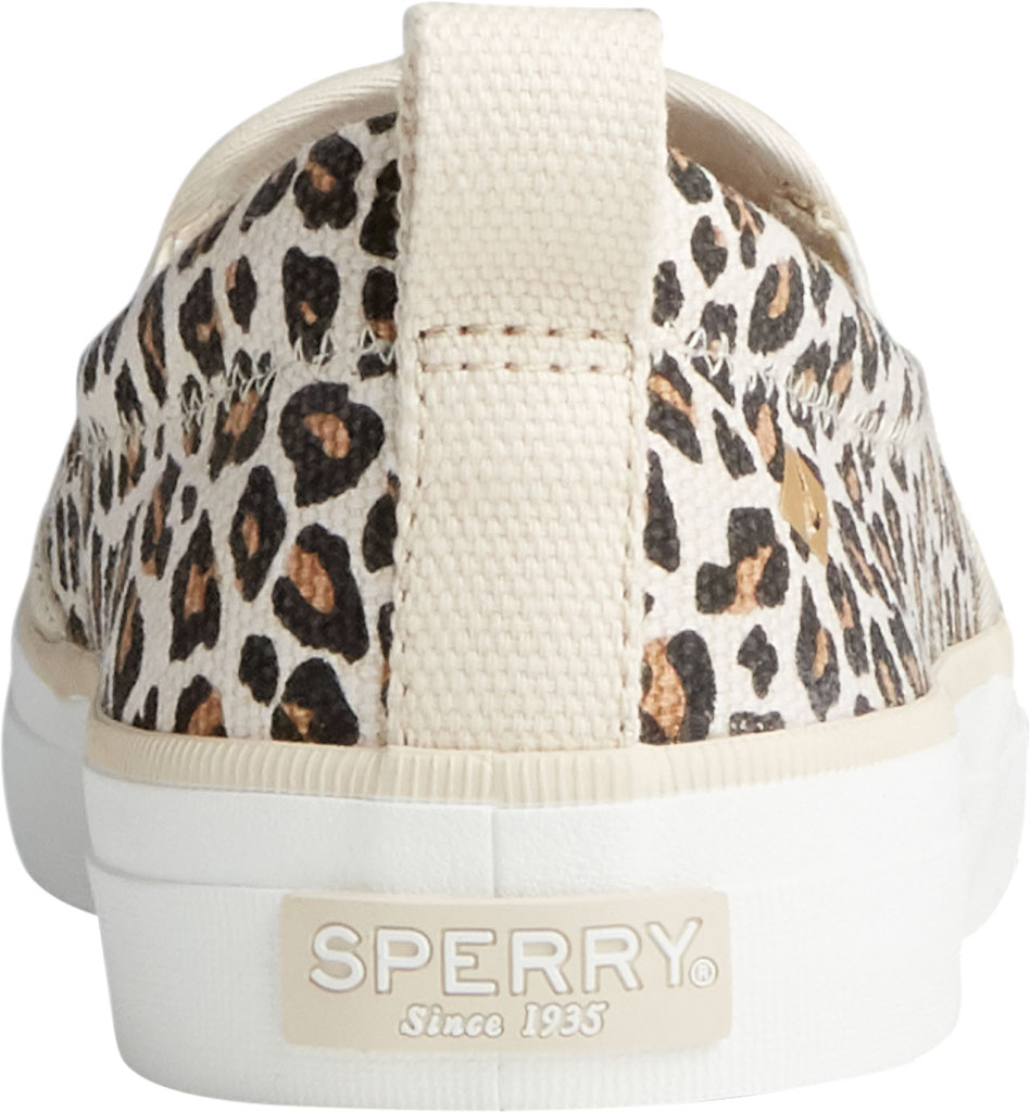 Women's Sperry Top-Sider Crest Twin Gore Animal Print Slip On Sneaker, Tan/Black Textile, large, image 4