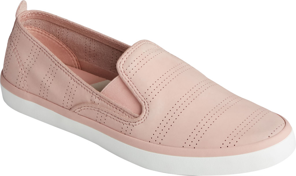 Women's Sperry Top-Sider Sailor Twin Gore Perforated Nubuck Slip On Sneaker, Blush Nubuck, large, image 1