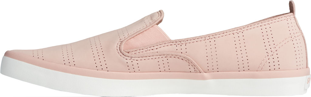 Women's Sperry Top-Sider Sailor Twin Gore Perforated Nubuck Slip On Sneaker, Blush Nubuck, large, image 3