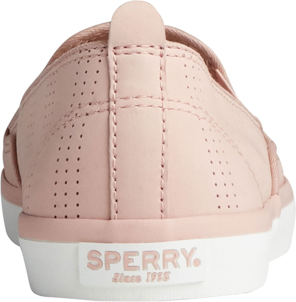 Women's Sperry Top-Sider Sailor Twin Gore Perforated Nubuck Slip On Sneaker, Blush Nubuck, large, image 4