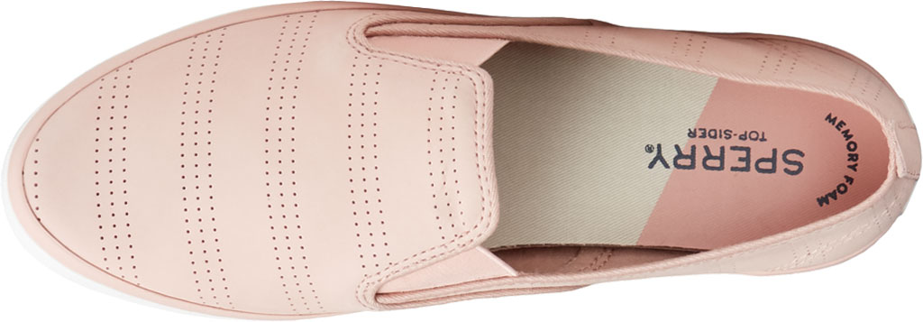 Women's Sperry Top-Sider Sailor Twin Gore Perforated Nubuck Slip On Sneaker, Blush Nubuck, large, image 5