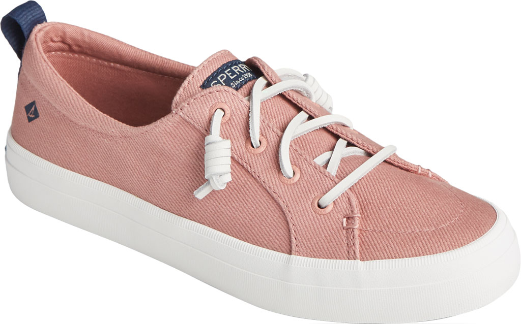 Women's Sperry Top-Sider Crest Vibe Seasonal Twill Sneaker, Dusty Rose Twill, large, image 1