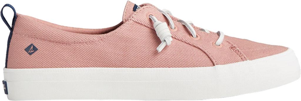 Women's Sperry Top-Sider Crest Vibe Seasonal Twill Sneaker, Dusty Rose Twill, large, image 2