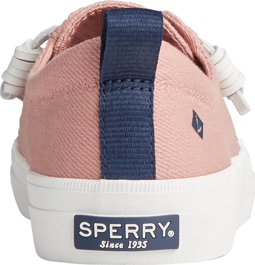 Women's Sperry Top-Sider Crest Vibe Seasonal Twill Sneaker, Dusty Rose Twill, large, image 4