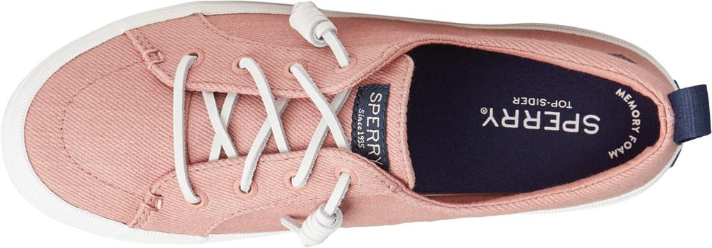 Women's Sperry Top-Sider Crest Vibe Seasonal Twill Sneaker, Dusty Rose Twill, large, image 5