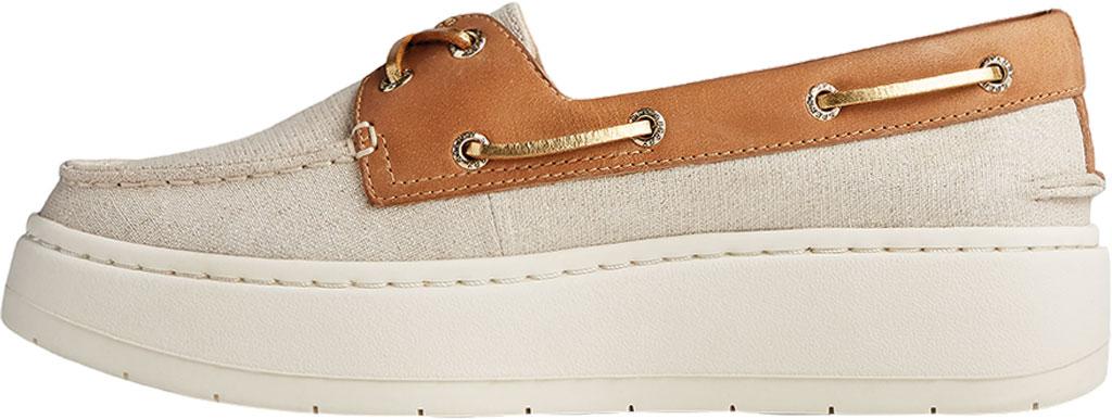 Women's Sperry Top-Sider Authentic Original Platform Sparkle Boat Sneaker, Tan/Gold Textile, large, image 3