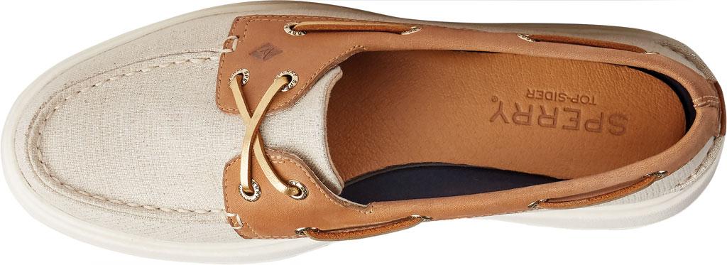 Women's Sperry Top-Sider Authentic Original Platform Sparkle Boat Sneaker, Tan/Gold Textile, large, image 5