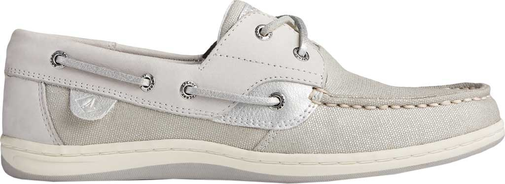 Women's Sperry Top-Sider Koifish Sparkle Textile Boat Shoe, Grey/Silver Textile, large, image 2