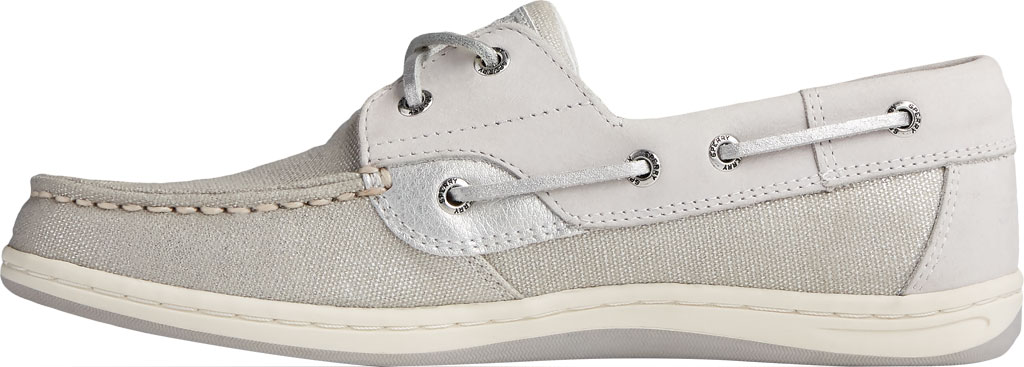 Women's Sperry Top-Sider Koifish Sparkle Textile Boat Shoe, Grey/Silver Textile, large, image 3