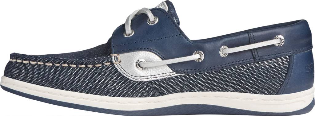 Women's Sperry Top-Sider Koifish Sparkle Textile Boat Shoe, Navy/Silver Textile, large, image 3