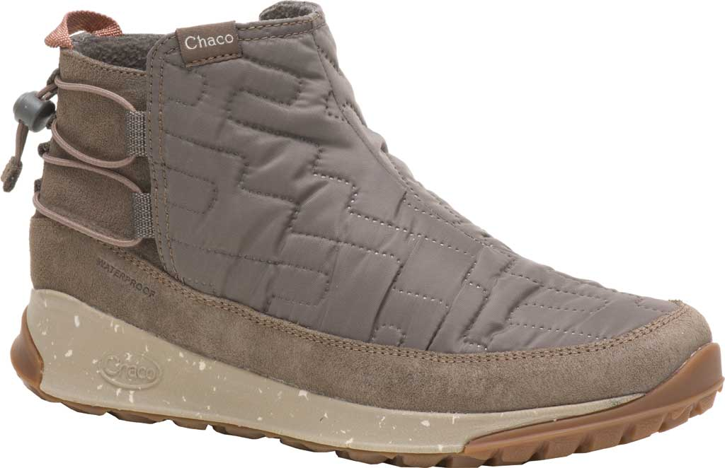 Women's Chaco Borealis Ridge Waterproof Hiking Boot, Morel Brown Quilted Nylon, large, image 1