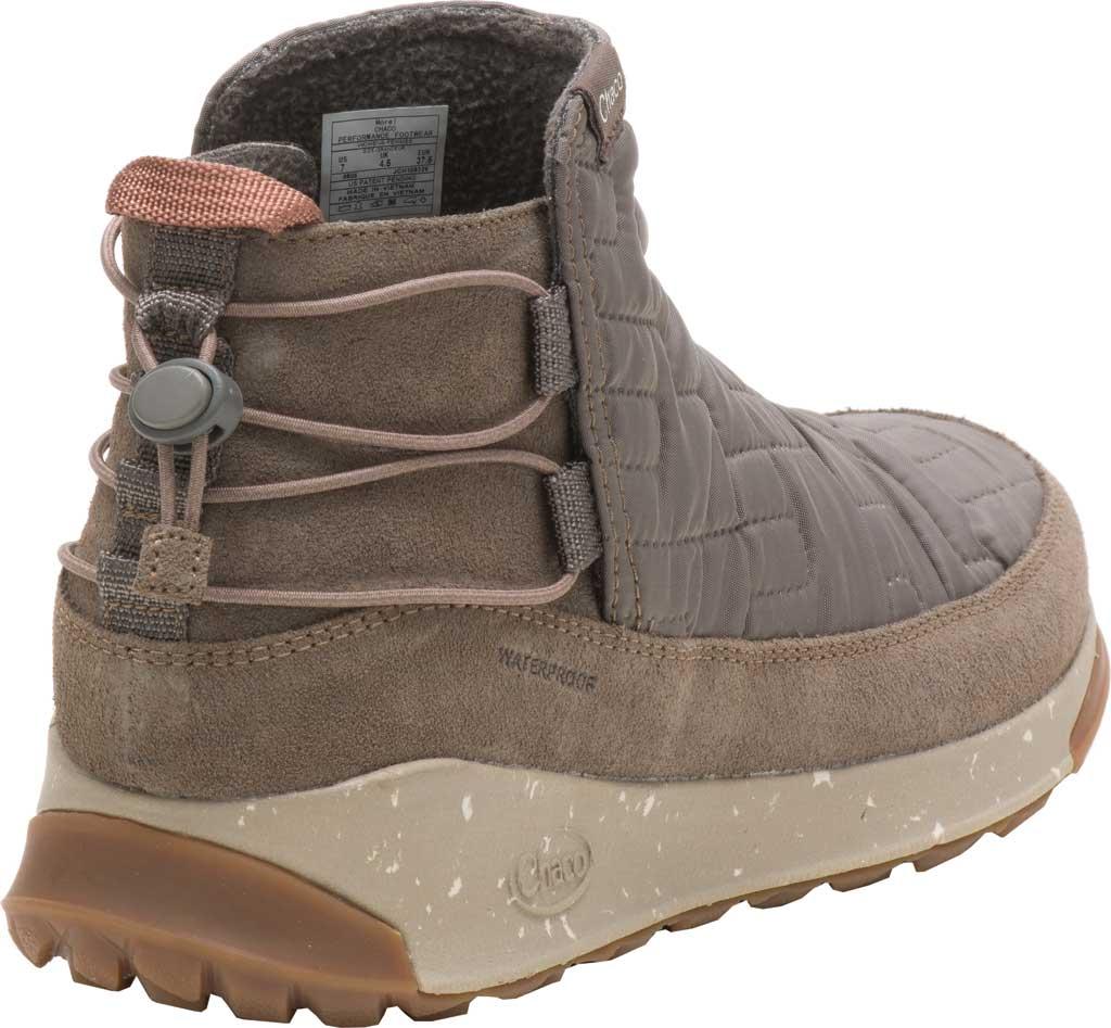 Women's Chaco Borealis Ridge Waterproof Hiking Boot, Morel Brown Quilted Nylon, large, image 3
