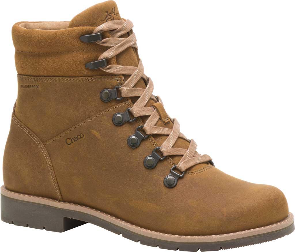 Women's Chaco Cataluna Explorer Waterproof Hiking Boot, Bronze Full Grain Leather, large, image 1