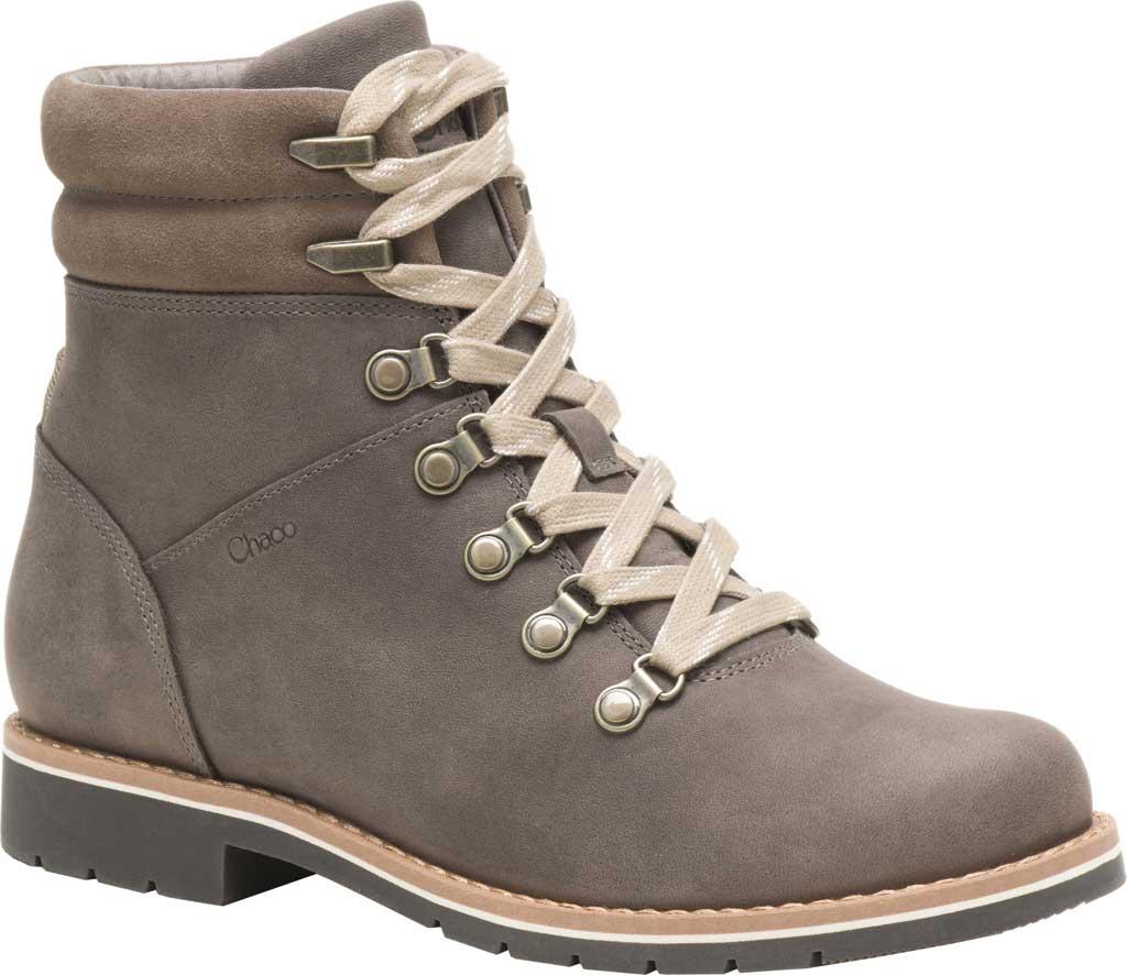 Women's Chaco Cataluna Explorer Waterproof Hiking Boot, Morel Brown Full Grain Leather, large, image 1