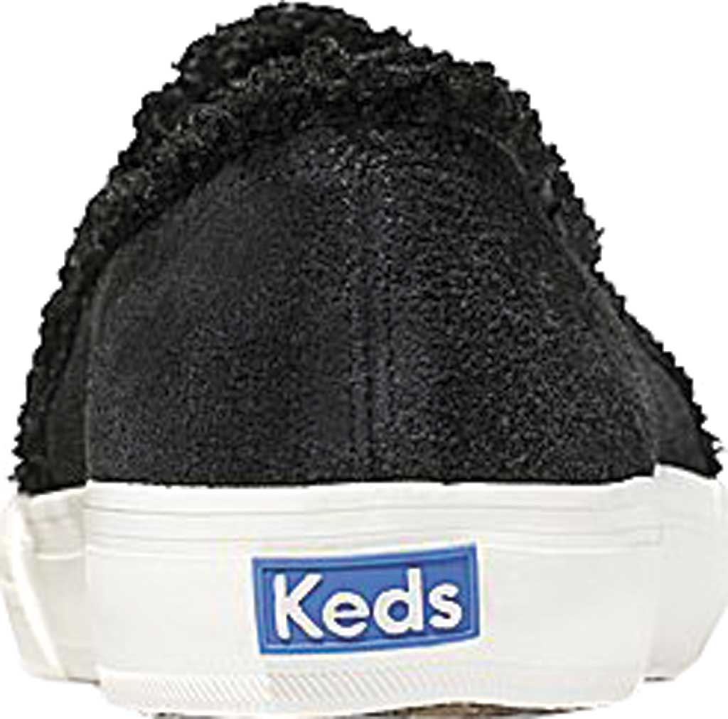 Women's Keds Double Decker Suede/Shearling Slip-On, Black Suede, large, image 3