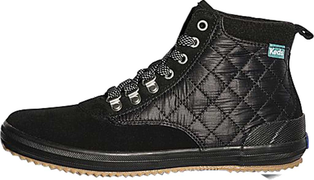 Women's Keds Scout Suede Nylon WX Boot II, Black/Black Suede/Quilted Nylon, large, image 3