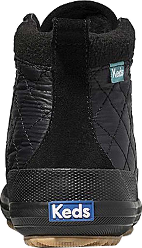 Women's Keds Scout Suede Nylon WX Boot II, Black/Black Suede/Quilted Nylon, large, image 4