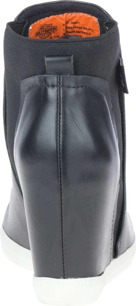 Women's Harley-Davidson Parkdale Slip On Wedge Bootie, Black Full Grain Leather, large, image 4