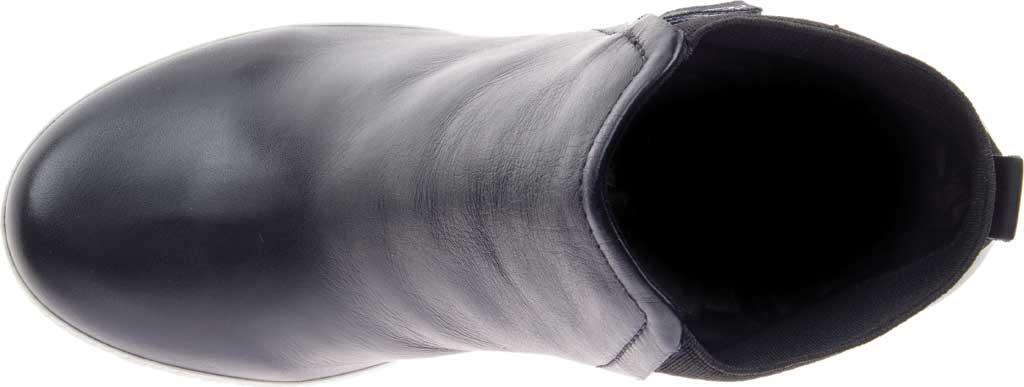 Women's Harley-Davidson Parkdale Slip On Wedge Bootie, Black Full Grain Leather, large, image 5