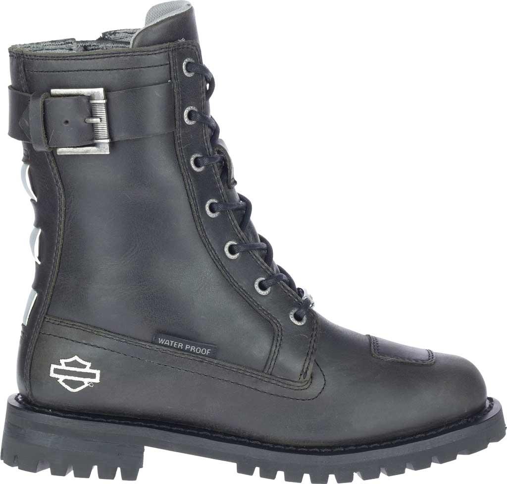 "Women's Harley-Davidson Bremerton 7"" Lace Waterproof Motorcycle Boot, Black Waterproof Full Grain Leather, large, image 2"