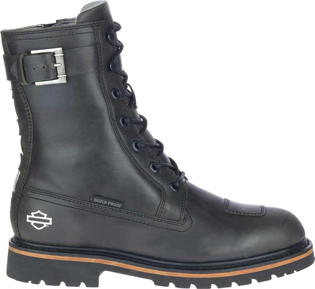 """Men's Harley-Davidson Brosner 8"""" Lace Waterproof Motorcycle Boot, Black Waterproof Full Grain Leather, large, image 2"""