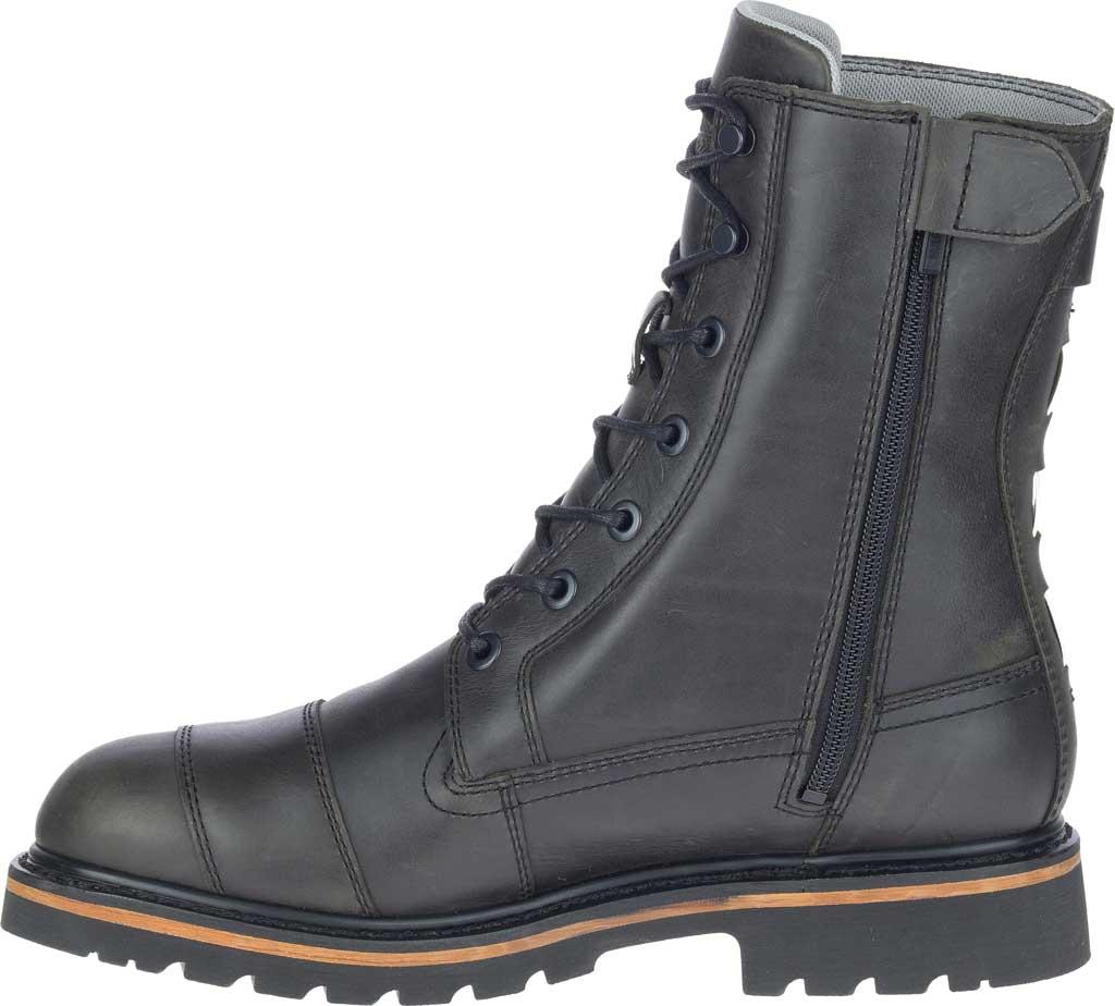 """Men's Harley-Davidson Brosner 8"""" Lace Waterproof Motorcycle Boot, Black Waterproof Full Grain Leather, large, image 3"""