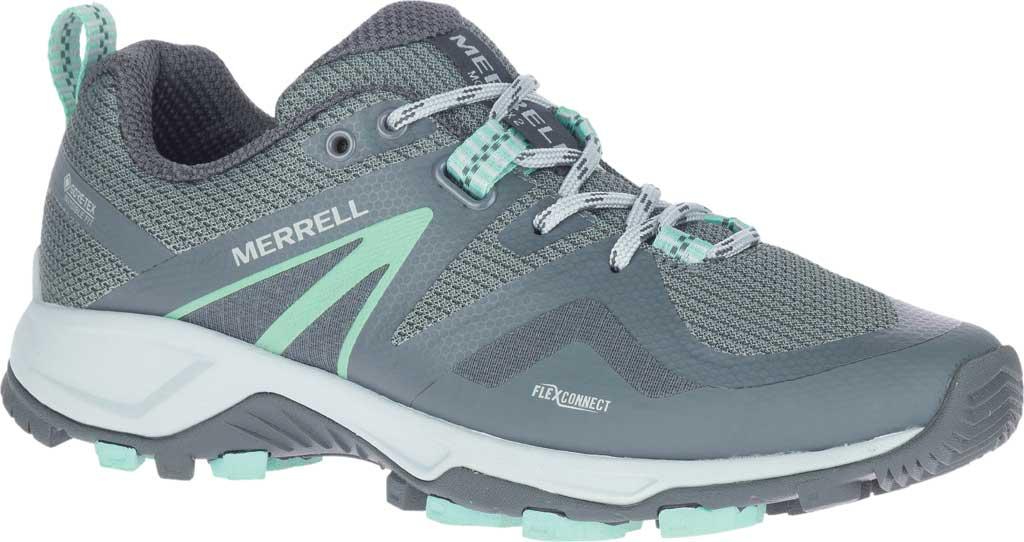 Women's Merrell MQM Flex 2 GORE-TEX Trail Running Sneaker, Rock/Wave Waterproof Mesh, large, image 1