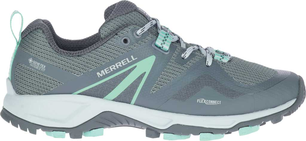 Women's Merrell MQM Flex 2 GORE-TEX Trail Running Sneaker, Rock/Wave Waterproof Mesh, large, image 2