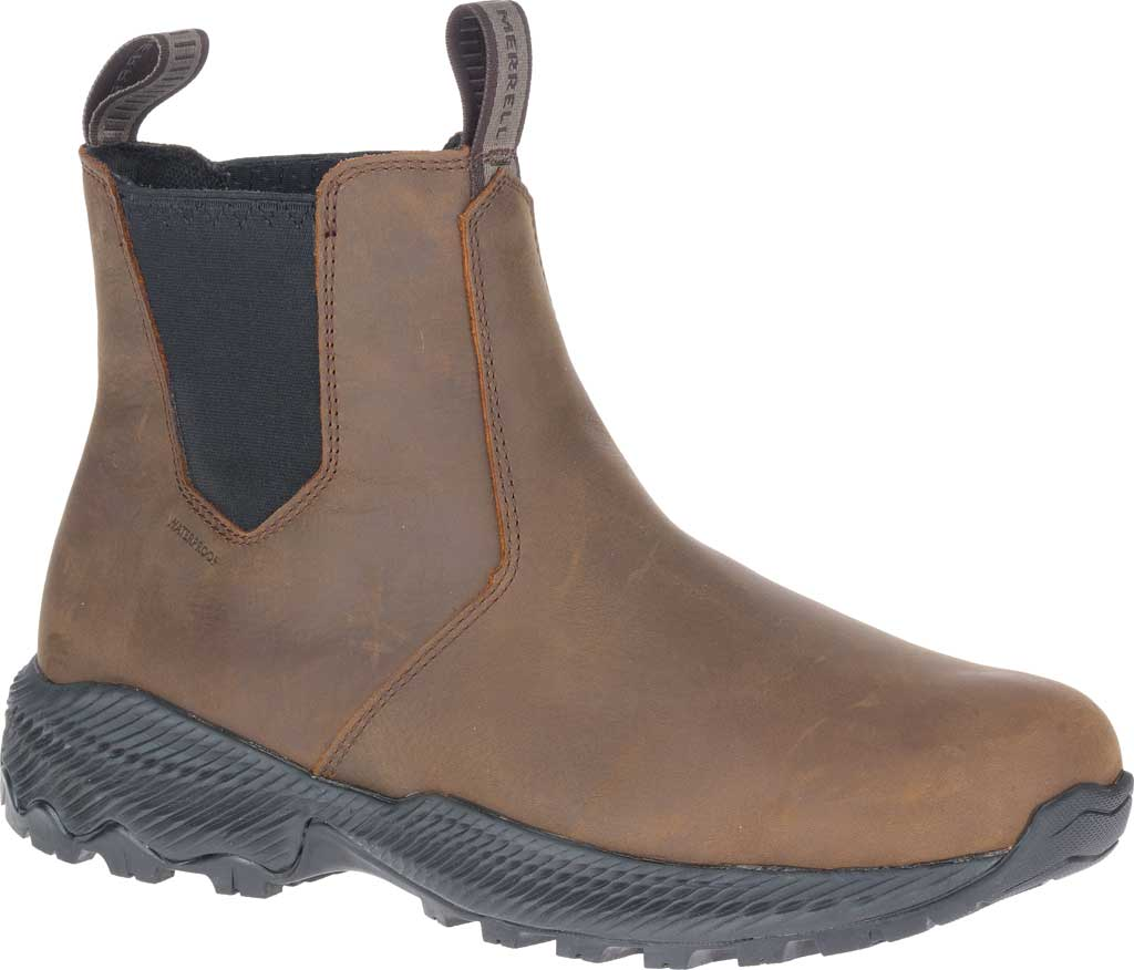 Men's Merrell Forestbound Chelsea Waterproof Boot, Clay Polyurethane Coated Leather/Mesh, large, image 1