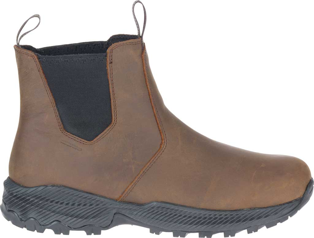 Men's Merrell Forestbound Chelsea Waterproof Boot, Clay Polyurethane Coated Leather/Mesh, large, image 2