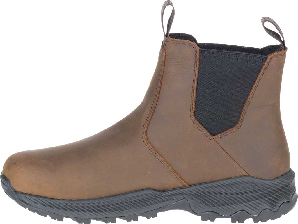 Men's Merrell Forestbound Chelsea Waterproof Boot, Clay Polyurethane Coated Leather/Mesh, large, image 3