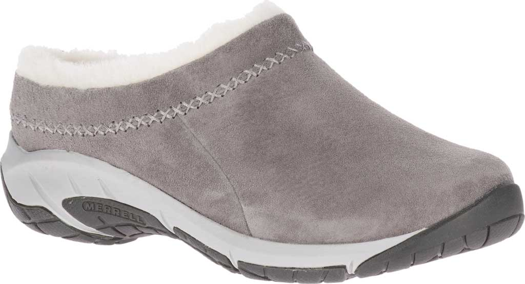 Women's Merrell Encore Ice 4 Slip On, Charcoal Pig Suede, large, image 1