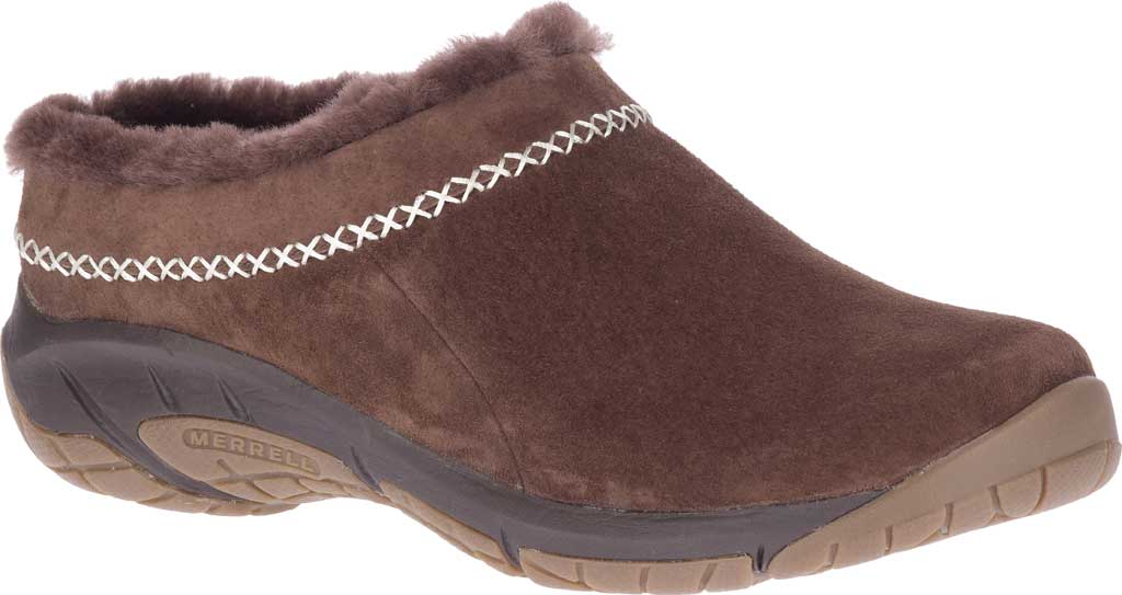 Women's Merrell Encore Ice 4 Slip On, Espresso Pig Suede, large, image 1