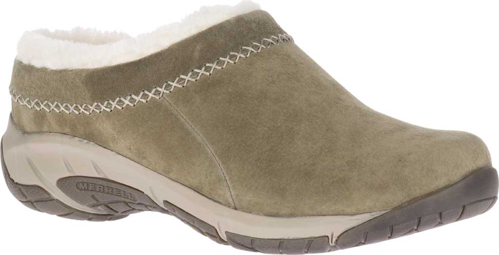 Women's Merrell Encore Ice 4 Slip On, Olive Pig Suede, large, image 1