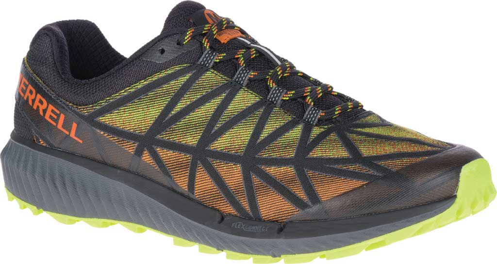 Men's Merrell Agility Synthesis 2 Trail Running Sneaker, HV Black Jacquard Fabric/TPU, large, image 1