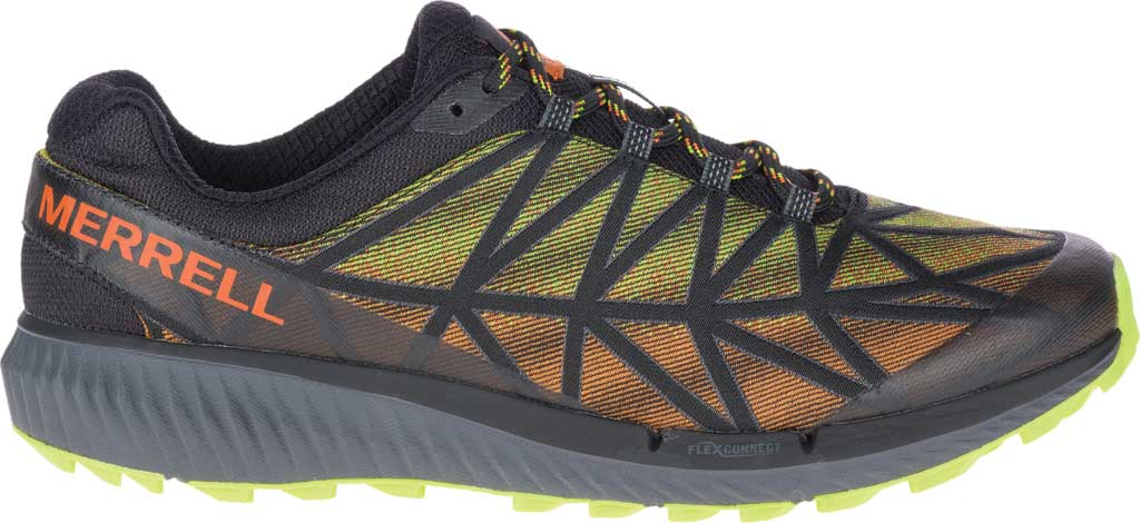 Men's Merrell Agility Synthesis 2 Trail Running Sneaker, HV Black Jacquard Fabric/TPU, large, image 2